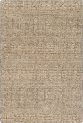Cormo Rug in Green and Beige - Yarn and Loom Rugs