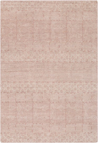 Cormo Rug in Rose and Beige - Yarn and Loom Rugs
