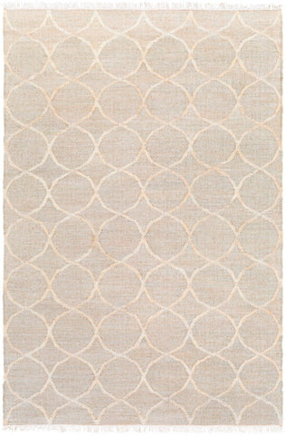 Ellipse Jute Rug in Khaki and Cream - Yarn and Loom Rugs