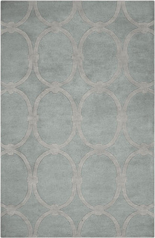 Eternity Rug in Grey - Yarn and Loom Rugs