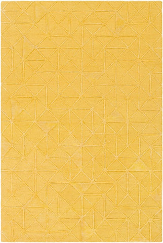 Etna Rug in Mustard Yellow - Yarn and Loom Rugs