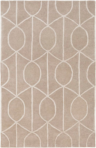 Figaro Trellis Rug in Taupe and Beige - Yarn and Loom Rugs