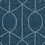 Figaro Trellis Rug in Navy Blue and Pale Blue - Yarn and Loom Rugs