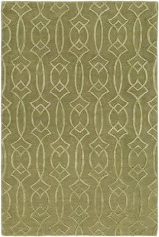 Georgia Trellis Rug in Green - Yarn and Loom Rugs