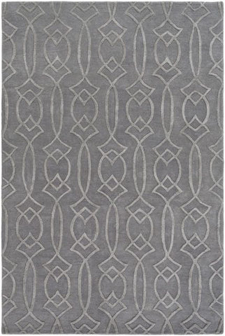 Georgia Trellis Rug in Grey - Yarn & Loom Rugs