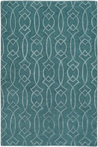 Georgia Trellis Rug in Teal - Yarn and Loom Rugs