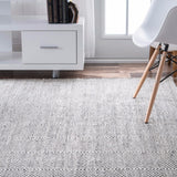 Gibson Diamond Rug in Ivory