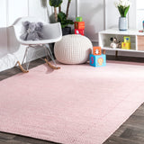 Gibson Diamond Rug in Pale Pink - Yarn and Loom Rugs