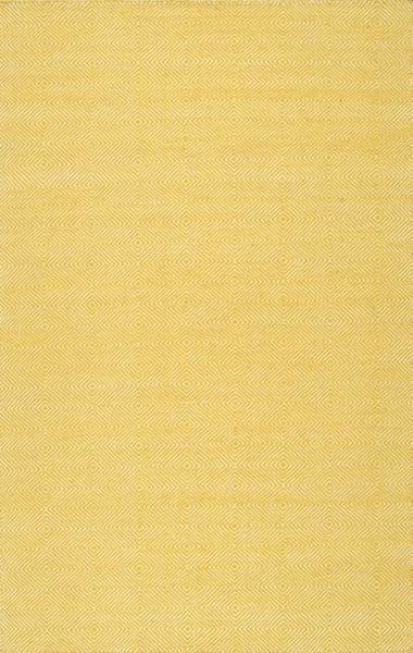 Gibson Diamond Rug in Yellow - Yarn and Loom Rugs