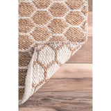 Reversible Honeycomb Jute Rug