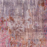 Hand Knotted Watercolour Rug in Eggplant and Violet