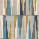 Isosceles Rug in Aqua, Blue, Beige, Tan and Charcoal