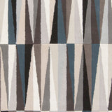 Isosceles Rug in Taupe, Black, Light Grey and Blue