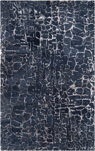 Lava Rug in Navy Blue
