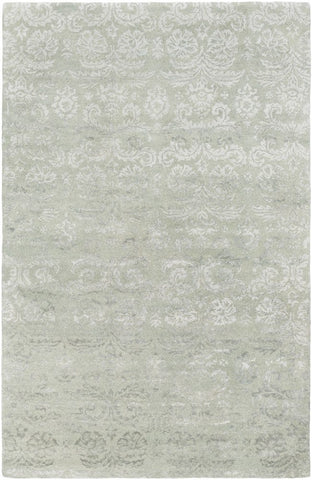 Lirac Damask Rug in Green