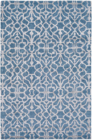 Marmont Rug in Bright Blue and Light Grey