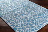Marmont Rug in Bright Blue and Light Grey - Yarn and Loom Rugs