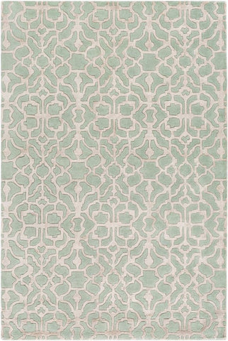 Marmont Rug in Mint Green and Light Grey - Yarn and Loom Rugs