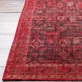 Milas Overdyed Rug in Dark Red - Yarn and Loom Rugs