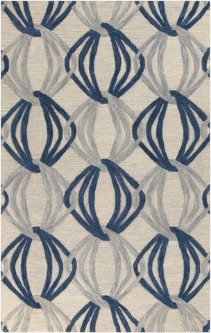 Orbit Rug in Grey and Navy Blue - Yarn & Loom Rugs