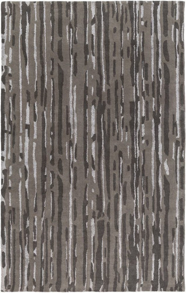 Paper Bark Rug in Charcoal and Taupe