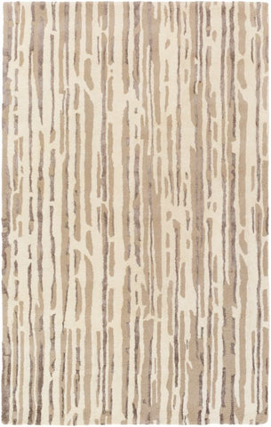 Paper Bark Rug in Cream, Tan and Camel