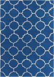 Quatrefoil Rug in Blue and White