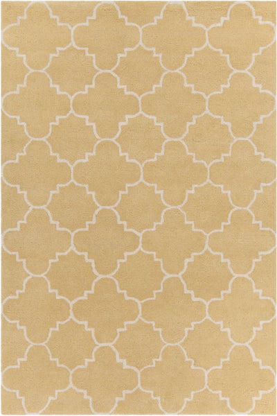 Quatrefoil Rug in Yellow and Ivory