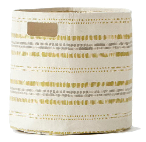 Pehr Designs Railroad Storage Container in Mustard Yellow and Grey