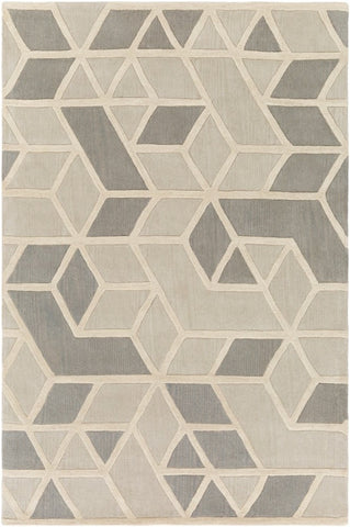 Rhombus Geometric Rug in Light Grey
