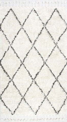 Taza Moroccan Rug in Natural - Yarn and Loom Rugs