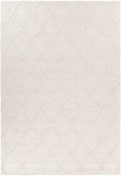 Casablanca Textured Trellis Rug in Beige - Yarn and Loom Rugs
