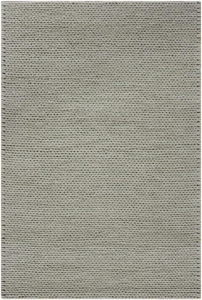 Sala Cable Knit Rug in Grey