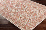 Suzanne Faded Medallion in Burnt Orange and White
