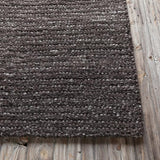 Colorado Textured Rug in Chocolate Brown - Yarn and Loom Rugs