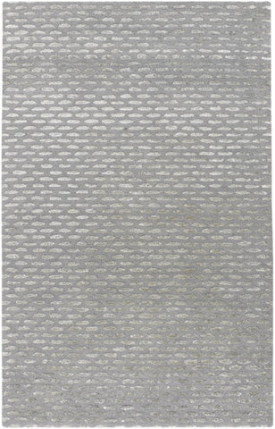 Silver Moon Rug in Grey and Silver - Yarn and Loom Rugs