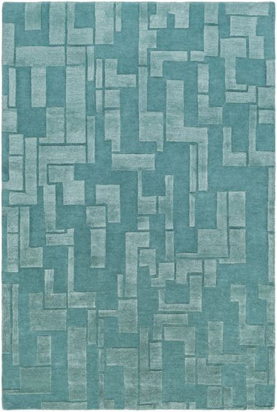 Atticus Rug in Teal - Yarn and Loom Rugs