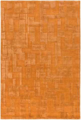 Atticus Rug in Burnt Orange - Yarn and Loom Rugs