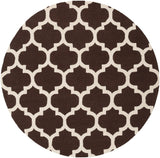 Classic Trellis Rug in Dark Brown and Cream - Yarn and Loom Rugs