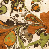 Splatter Watercolour Rug in Burnt Orange, Dark Green and Dark Brown - Yarn and Loom Rugs