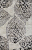 Botanica Rug in Slate, Charcoal and Beige - Yarn and Loom Rugs