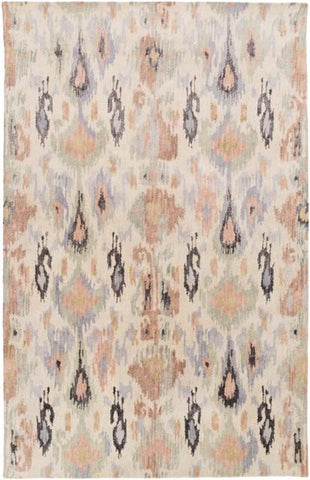 Alonnisos Rug in Taupe, Lilac, Beige and Ivory - Yarn and Loom Rugs