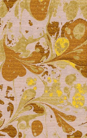 Splatter Watercolour Rug in Gold, Ivory and Lemon Yellow - Yarn and Loom Rugs