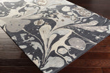 Splatter Watercolour Rug in Charcoal, Grey and Ivory - Yarn and Loom Rugs