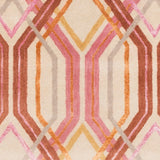 Manhattan Rug in Bright Pink, Burnt Orange, Tan, Taupe and Beige - Yarn and Loom Rugs