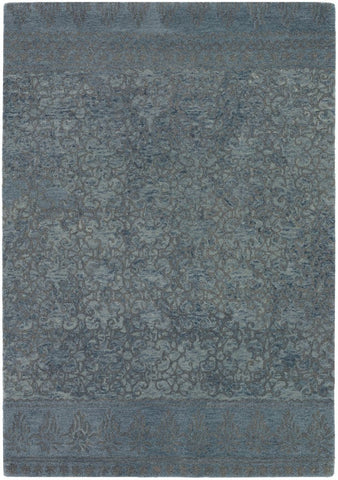 Berlow Rug in Slate Blue and Grey - Yarn and Loom Rugs