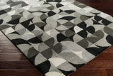 Keeley Rug in Light Grey and Charcoal - Yarn and Loom Rugs