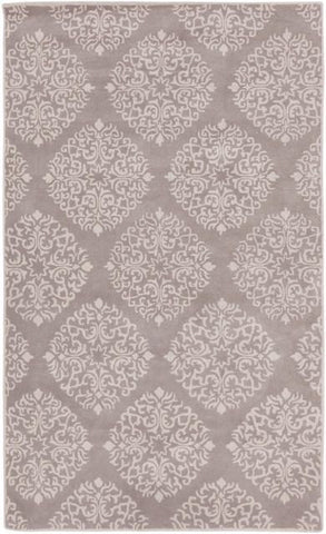 Cambridge Medallion Rug in Grey - Yarn and Loom Rugs