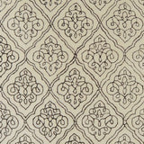 Scrolling Trellis Rug in Ivory and Brown - Yarn and Loom Rugs