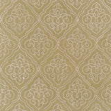 Scrolling Trellis Rug in Moss Green and Ivory